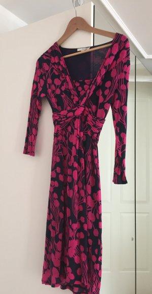 Boden-Kleid in blau/pink