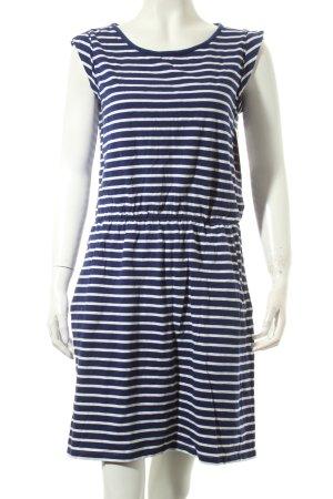 Boden Kleid weiß-dunkelblau Streifenmuster klassischer Stil