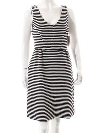 Boden Kleid weiß-dunkelblau Streifenmuster Street-Fashion-Look