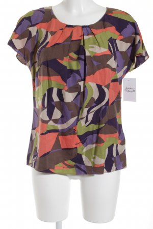 Boden Kurzarm-Bluse abstraktes Muster Casual-Look