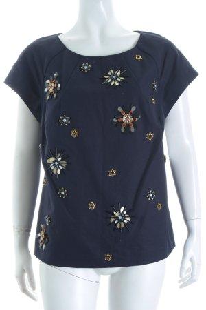 Boden Kurzarm-Bluse dunkelblau Street-Fashion-Look