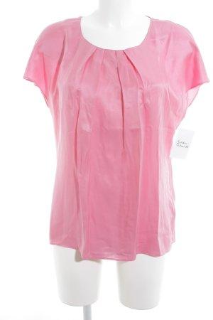 Boden Kurzarm-Bluse rosa Elegant