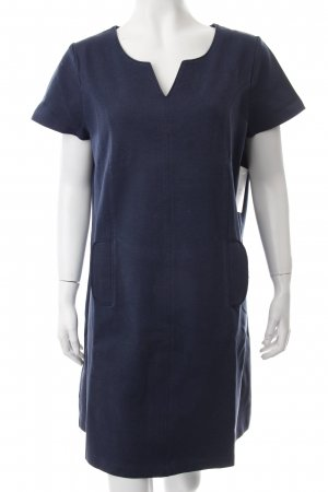 Boden Kurzarmkleid blau Washed-Optik