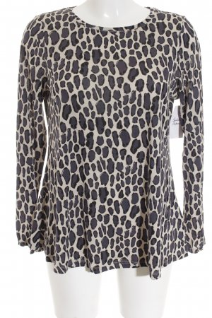 Boden Langarm-Bluse Animalmuster Casual-Look