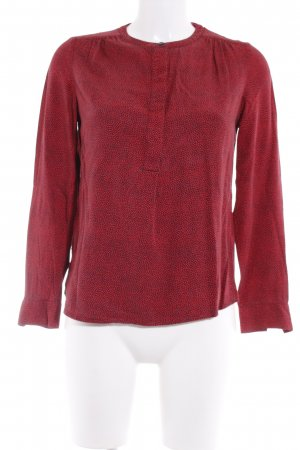 Boden Langarm-Bluse dunkelblau-rot Punktemuster Casual-Look
