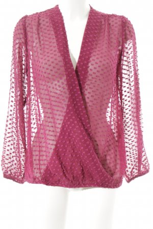 Boden Langarm-Bluse magenta-lila Punktemuster Business-Look