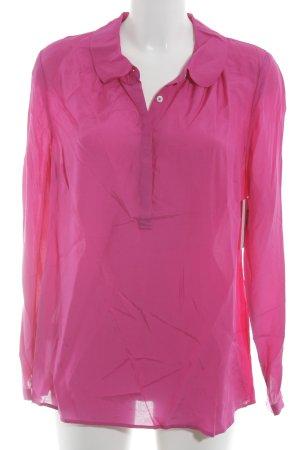 Boden Langarm-Bluse magenta schlichter Stil