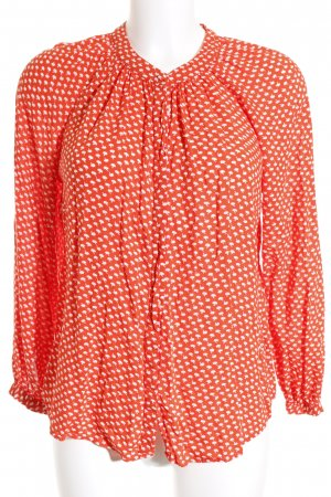 Boden Langarm-Bluse orange-weiß Allover-Druck Casual-Look