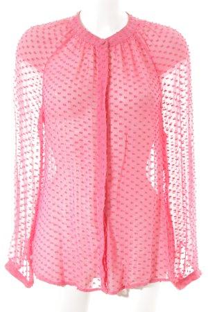 Boden Langarm-Bluse pink-magenta Punktemuster Elegant