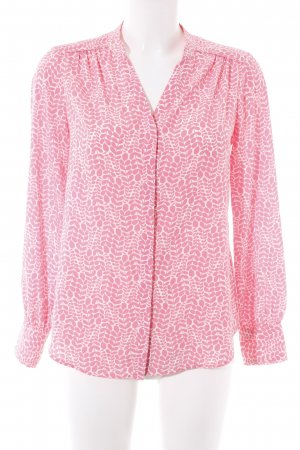 Boden Langarm-Bluse pink-weiß florales Muster Casual-Look