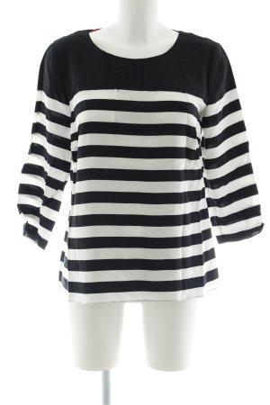 Boden Langarm-Bluse schwarz-weiß Streifenmuster