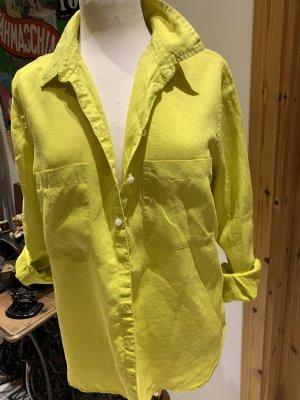 Boden Blusa de lino amarillo