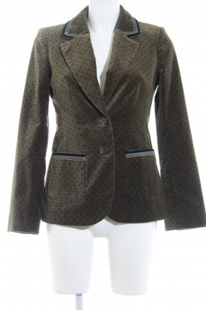 Boden Long-Blazer grüngrau-dunkelblau Punktemuster Vintage-Look