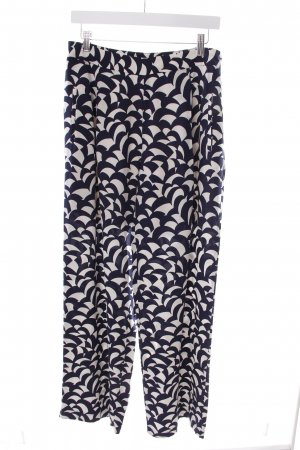 Boden Marlene Trousers dark blue-white abstract pattern