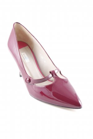 Boden Mary Jane Pumps bordeauxrot Business-Look