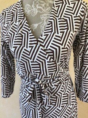 Boden Maxi-jurk wit-bruin Viscose