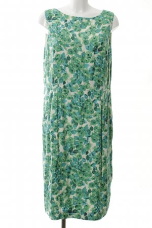 Boden Midikleid wollweiß-grün Blumenmuster Casual-Look