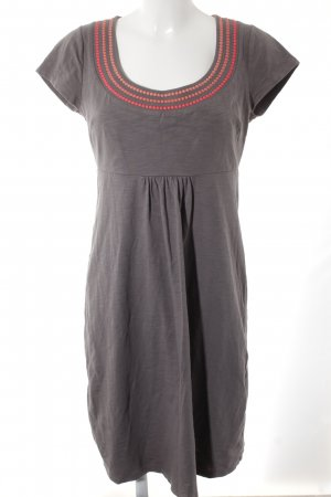 Boden Midi Dress grey-bright red flecked casual look