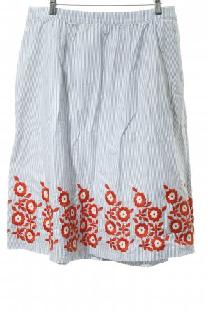 Boden Falda midi estampado a rayas look casual