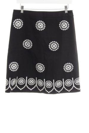 Boden Minigonna nero-bianco motivo astratto stile semplice
