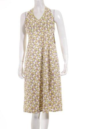 Boden Neckholderkleid Kleid Sommer M 38 beige grün gelb geblümt