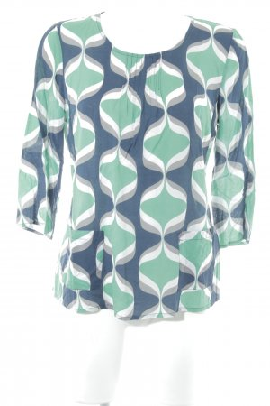 Boden Oversized blouse abstract patroon retro uitstraling