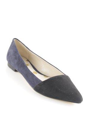 Boden Peeptoe Ballerinas schwarz-dunkelblau Casual-Look