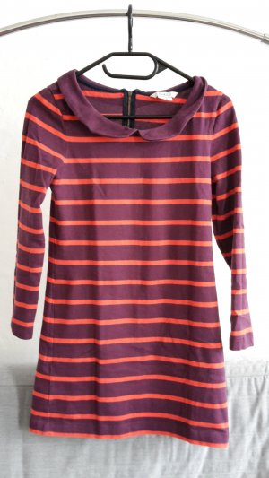 Boden Sweater Dress purple-orange cotton