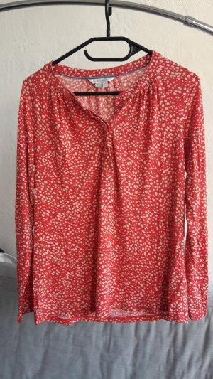 Boden Pullover T-Shirt Langarmshirt S 38 UK10 weiß lachs rot