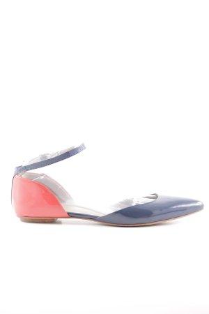 Boden Sandalias de tiras azul acero-rojo claro estilo «business»