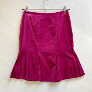 Boden Godet Skirt pink-magenta cotton