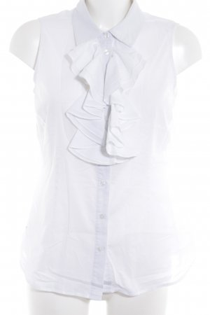 Boden Ruffled Blouse natural white business style