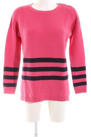 Boden Rundhalspullover pink-schwarz Casual-Look