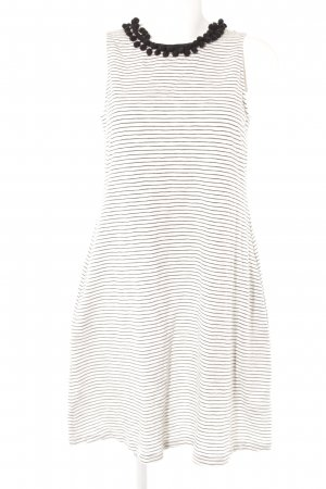 Boden Off-The-Shoulder Dress white-black striped pattern casual look