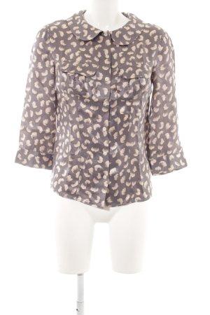 Boden Blouse en soie gris lilas-rosé motif abstrait style décontracté