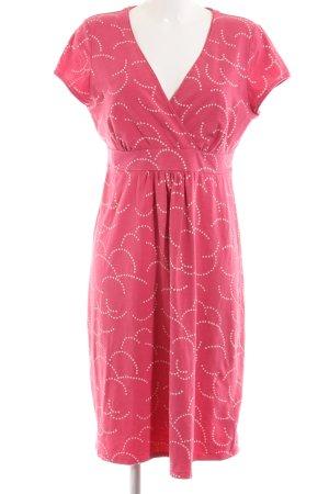 Boden Vestido estilo camisa rosa-crema look casual
