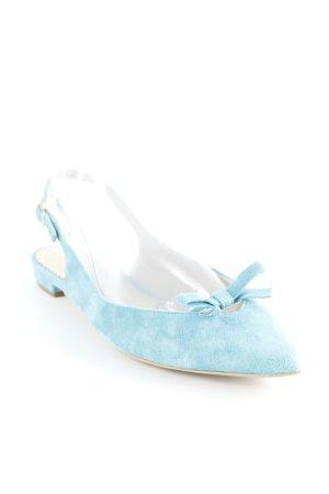 Boden Slingback Ballerinas türkis-kadettblau Casual-Look