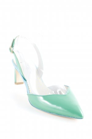 Boden Slingback-Pumps grün-kornblumenblau Elegant