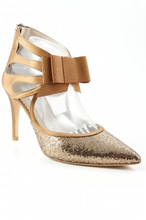 Boden Spitz-Pumps bronzefarben-braun Party-Look
