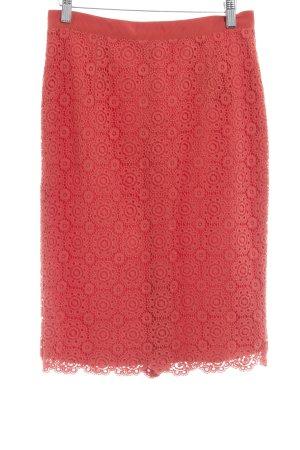 Boden Jupe en dentelle rouge motif floral style romantique