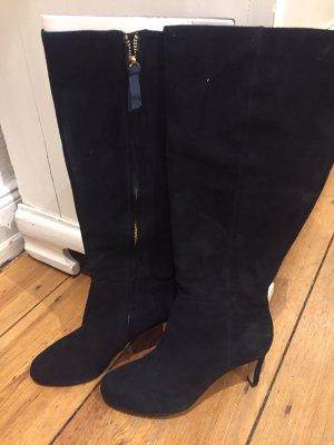 Boden Laarzen met hak donkerblauw