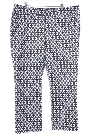 Boden Pantalón pitillo blanco-azul oscuro estampado con diseño abstracto