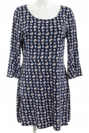 Boden Stretch Dress blue allover print casual look