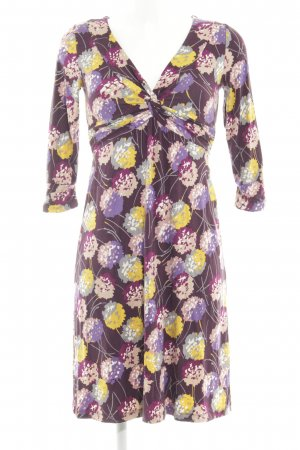 Boden Stretch Dress brown violet-dark yellow floral pattern casual look