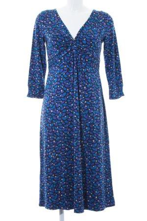Boden Stretchkleid dunkelblau abstraktes Muster Romantik-Look