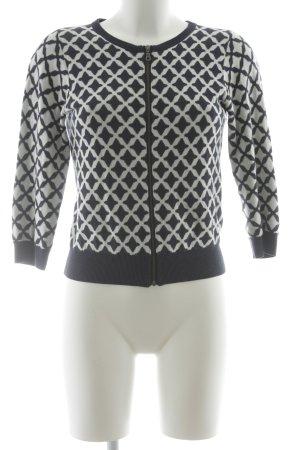 Boden Giacca in maglia bianco-blu scuro motivo astratto stile casual