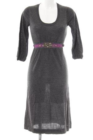 Boden Strickkleid grau-violett Casual-Look