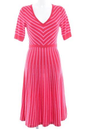 Boden Strickkleid rot-pink Streifenmuster Casual-Look