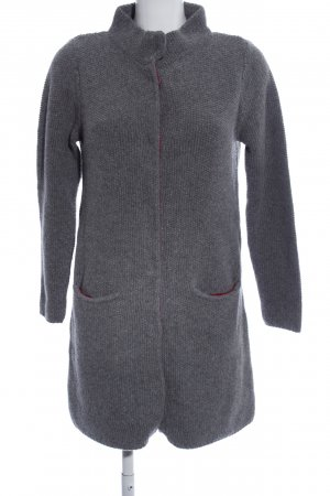 Boden Knitted Coat light grey casual look
