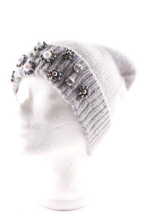 Boden Chapeau en tricot gris clair élégant